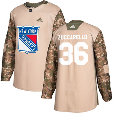 700a7b3d9 Adidas Rangers  36 Mats Zuccarello Camo Authentic 2017 Veterans Day Stitched  NHL Jersey