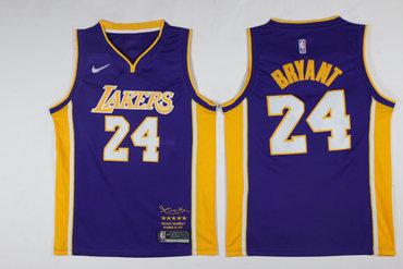 a247a7fd577 Lakers 8 Kobe Bryant Purple Black Mamba Nike Swingman Jersey