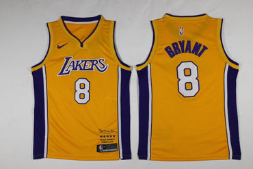 039661b93 Lakers 8 Kobe Bryant Yellow Black Mamba Nike Swingman Jersey