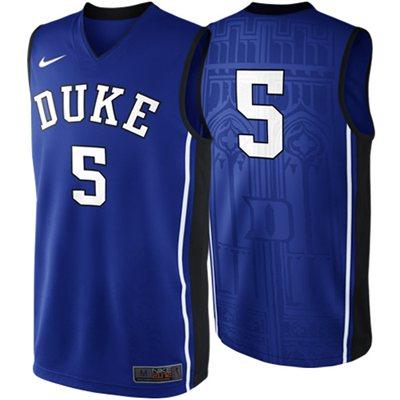 76d6fd330 NEW Duke Blue Devils  5 Elite Replica Basketball Jersey - Duke Blue