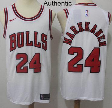 bbfaf725f39 Nike Bulls  24 Lauri Markkanen White NBA Authentic Association Edition  Jersey