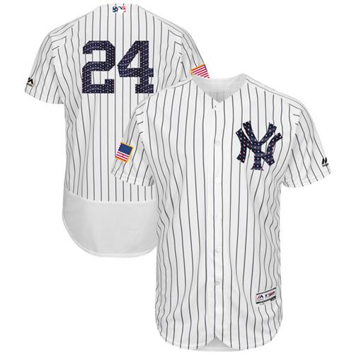 212a07d06f6 Yankees 24 Gary Sanchez White Strip Fashion Stars Stripes Flexbase Authentic  Stitched MLB Womens New York Yankees 4 Lou Gehrig Authentic Navy Blue ...